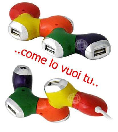 HUB USB 5 PORTE GENERICO HUB USB 5 PORTE PASSIVO